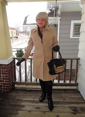 NOW I Am Ready! (Laurette Victoria) Tags: porch purse gloves coat scarf blonde boots laurette woman