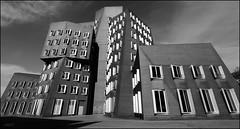 Architecture abstract (Logris) Tags: düsseldorf dusseldorf mediaharbor medienhafen architektur architecture 1022mm canon bw sw weitwinkel