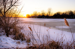 River Canard (Neil Cornwall) Tags: 2019 canada february ontario rivercanard snow winter ice water river frozen sunset