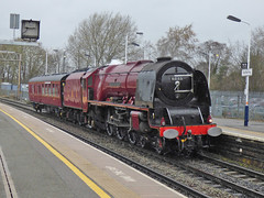 46233 at kettering (47604) Tags: 46233 6233 stanier pacific steam engine red kettering