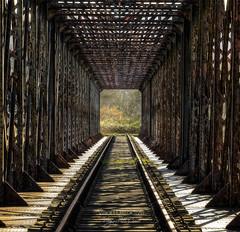 Dead End ((Virginie Le Carré)) Tags: pont bridge ponteiffel eiffel pontcage métal metal rouille rusty perspective viewpoint pontcantilever architecture abandonné abandoned