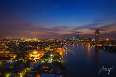 Bangkok City Scape, Thailand night. Panorama of Chao Praya River in Bangkok. View of phra Sumen fort  with grand Palace and Emerald budha temple in the background, Bangkok Thailand. 13 January 2019 (pomp_jaideaw) Tags: bangkok river thailand chao view praya sunset city night panorama landmark water cityscape travel architecture building twilight bridge asia sky boat light modern transport tourism phraya landscape skyline background skyscraper thai dusk wat temple tourist traffic blue arun scene scenic urban construction panoramic downtown capital tower beautiful town 1635