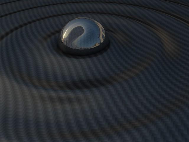 Обои поверхность, черный, шар, ребристый картинки на рабочий стол, фото скачать бесплатно