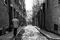 Walking on Acorn Street in Boston