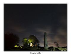 Powdermills05 (mdsphotoimages1) Tags: stars sky clouds color stacks ruins