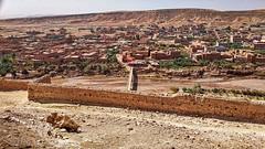 Ait Ben Haddou 15 View from Hill - across the river (besenyi.rado) Tags: ksar morocco kasbah africa unescoworldheritagesite unesco aitbenhaddou atlasmountains