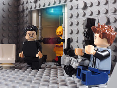 Who Are You Really? (-Metarix-) Tags: lego super hero minifig dc comics comic flash barry allen cw harrison wells eobard thawne reverse time vault travel zoom