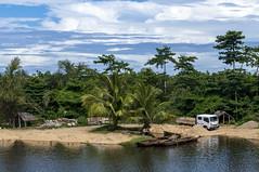 Malagasy village / Малагасийская деревня (dmilokt) Tags: природа nature пейзаж landscape река river dmilokt лодка boat