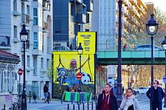 296 - Paris - Février 2019 - le long du Bassin de La Villette (paspog) Tags: paris france bassindelavillette février 2019 fresque fresques streetart mural murals tags graffitis