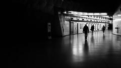 Heading East (Sean Batten) Tags: london england unitedkingdom gb southwark tube underground blackandwhite bw streetphotography street city urban fuji fujifilm x100f light shadow people walking commuters