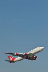 'VS43E' (VS0043) LGW-LAS (A380spotter) Tags: takeoff departure climb climbout gearinmotion gim retraction boeing 747 400 gvroy prettywoman virginatlantic vir vs vs43e vs0043 lgwlas runway08r 08r london gatwick egkk lgw