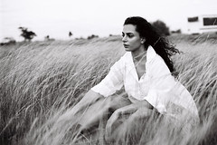 35mm Open Field Shoot (Digital Age Photography) Tags: 35mm sunset afternoon melbourne australia open field grass model beauty black white