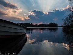 Sonnenuntergang Törn 042019 05 (U. Heinze) Tags: schweden sverige sweden blekinge olympus penf 1240mm wasser see sonnenuntergang sky himmel