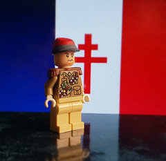 General Charles de Gaulle, Leader of the Free French Forces (brickhistorian) Tags: war world ww2 wwii lego legos liberation minifig minifigure moc military custom customs general france forces french free europe