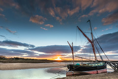 Juno at Dusk (andybam1955) Tags: quay landscape blakeneyquay blakeneyharbour clouds coastal boats sky northnorfolk rural juno norfolk dusk