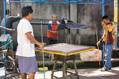Street Games (Beegee49) Tags: street game pool coins table cue male men playing man painting a6000 sony happy planet city philippines asia soe bacolod happyplanet asiafavorites