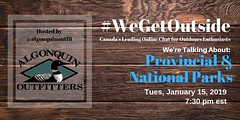 @algonquinoutfit : Quick reminder to follow us @algonquinoutfit for tonight's #WeGetOutside #TwitterChat, we're taking over while @Some_Eventful is away, to talk about our Provincial and National Parks this evening at 7:30pm EST. https://t.co/kwWEGeLibZ (AlgonquinOutfitters) Tags: ifttt twitter specific user photos