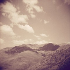 ... (Catherine...) Tags: lomography toycamera clouds nuages pyrénées 6x6 120mm film bw holga