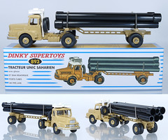 DIF-A-893-Unic-Pipe-Artic (adrianz toyz) Tags: dinky toys toy model vehicle france french atlas reissue truck lorry semi diecast articulated adrianztoyz 893 unic pipe transporter saharien supertoys