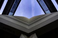 look up aux Cuverons (Rudy Pilarski) Tags: architecture architectura architectural abstract abstrait color couleur city colour ciudad ciel cloud sky lookup urbain urban urbano upstairs forme form geometry géométrie géométria géométrique graphique line ligne composition bâtiment immeuble bagneux france francia europe europa nuage minimalisme minimal minimalism minimalist ville