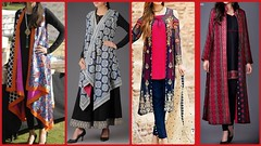 Latest Casual Wear Gown Style Open Shirts Designs For Girls 2019 (The Beauty Writer) Tags: latest casual wear gown style open shirts designs for girls 2019