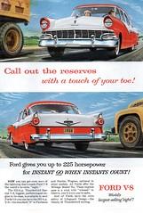 1956 Ford Fairlane V8 Sedan USA Original Magazine Advertisement (Darren Marlow) Tags: 1 5 6 9 19 56 1956 f ford fairlane s sedan c car cool collectible collectors classic a automobile v vehicle u us usa united states american america 50s