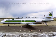 SAT_SE-210_D-ABAW_19860411_HAJ (Dirk Grothe | Aviation Photography) Tags: sat germania se210 caravelle dabaw haj
