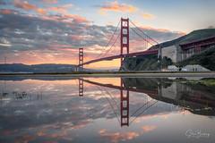 Golden Pond IV (sberkley123) Tags: sausalito california goldengatebridge nikon marin z7 sunset reflections fortbaker fog sanfrancisco 2470mm marinheadlands usa