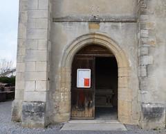 Orx, Landes: église Saint-Martin, XII°, portail ouvrant sur le porche au sud (Marie-Hélène Cingal) Tags: france sudouest 40 landes aquitaine nouvelleaquitaine macs orx