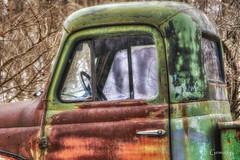 Cab (* Gemini-6 * (on&off)) Tags: truck pickup international cab rust patina decay hdr winter window chrome vehicle transportation hss