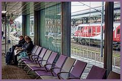 Killing Time (whosoever2) Tags: uk united kingdom gb great britain england sony dscrx100m3 train railway railroad march 2019 york yorkshire lner dvt passenger traveller station