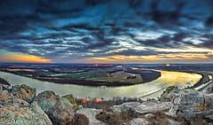 Dawn skies above Stouts Point and the Arkansas River Petit Jean Mt (Paul2660-1) Tags: arkansasphotography arkansasozarks arkansas arkansassunrise sunrise phaseoneiq100 photographyofarkansas landscapephotography panoramas petitjeanmountain arkansasriver