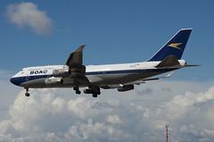 British Airways BOAC Retro Livery 747-436 (G-BYGC) LAX Approach 6 (hsckcwong) Tags: britishairways britishairwaysboacretrolivery boacretrolivery gbygc lax klax 747436 747400 744