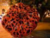 Leopard Pumpkin [Valencia - 28 January 2019] (Doc. Ing.) Tags: 2019 nikond5100 valencia hortadevalència comunitatvalenciana comunidadvalenciana spain hortattack art orange sculpture installation bynight nighttime night plazadelayuntamiento