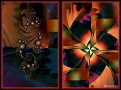 Reality with Dimension (bloorose-thanks 4 all the faves!!) Tags: ultrafractal uf fractal diptych spirals digital art abstract