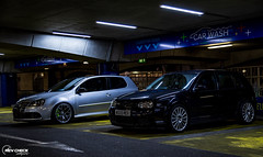 IMG_4722 (RevCheck Photography) Tags: car vehicle transport vw volkswagen r32 golf underground park light lighting shadow colour highlights reflection shine