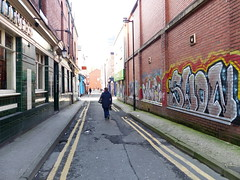 Manchester (1074) (benmet47) Tags: street city urban buildings architecture art wallart