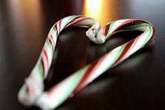 Candy Cane Heart (pskyler13) Tags: heart candy cane love close up soft light black striped
