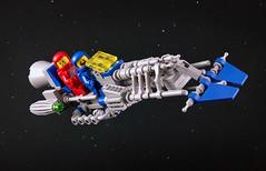 Speeder! Speeder! SPEEDER! (captainsmog) Tags: lego classicspace speeder speederbike moc vintage vehicle space astronaut spaceman fun