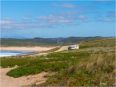 Camper parking with a view (Luc V. de Zeeuw) Tags: camper clouds coast coastline motorhome rv water bordeira algarve portugal