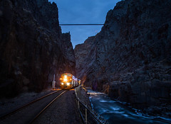 Royalty (WillJordanPhoto) Tags: royal gorge route drgw scenic colorado parkdale canoncity trains railroad night