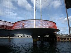 Tourist in Copenhagen, Denmark (routemates) Tags: denmark city copenhagen europe girl bridge canal architecture