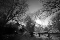 Sunny Snowy Village (Spotmatix) Tags: 1935mm a7 belgium brabantwallon camera countryside effects landscape lens monochrome places seasons snow sony sunny villerslaville winter zoomwide