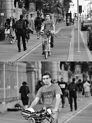 [La Mia Città][Pedala] con bikeMI (Urca) Tags: milano italia 2018 bicicletta pedalare ciclista ritrattostradale portrait dittico bike bicycle nikondigitale scéta biancoenero blackandwhite bn bw 11831 bikemi bikesharing