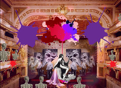 'Saucy Drawers & her Bloomers' entertain! (tishabiba) Tags: saucy musichall digitalart digitalmania artphoto artwork conceptional perception illusion surrealism surreale surreal tish