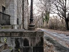 Grounds--Abandoned Naval Hospital (PAJ880) Tags: naval hospital brooklyn navy yard nyc grounds trees portico us history abandoned