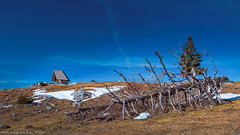 Schöckl 3 (Bikerwolferl) Tags: nature mountain landscape scenics outdoors tree sky mountainpeak bench beautyinnature nopeople woodmaterial natur berg landschaft landschaftspanorama imfreien baum berggipfel