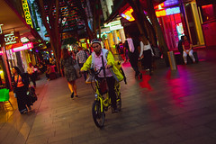 The Delivery Man #2 (nikrgannon) Tags: bike photography streetphotography street night nightstreet poppingcolors delivery d3400 chinatownsydney chinatown nikond3400