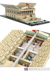 Berlin's Alte Nationalgalerie Lego MOC (Interior) (dayman1776) Tags: berlin germany german art museum island neoclassical architecture beautiful lego legos brick moc bricklink studio render interior bricks classical micro scale microscale nanoscale