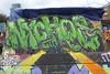 Nychos graffiti, Nomadic Community Gardens (duncan) Tags: nomadiccommunitygardens graffiti streetart nychos